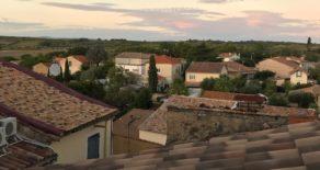 Renoverat byhus med terrass, underbar utsikt