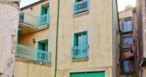 Byhus med två lägenheter och garage