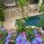 Charmigt byhus, gård med pool